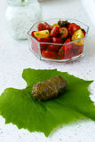 Stuffed vine leaves Royalty Free Stock Images