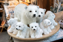 Stuffed white bears Royalty Free Stock Images