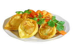 Stuffed Wontons Stock Image
