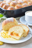 Stuffed yeast pastry dumplings Royalty Free Stock Photo