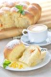 Stuffed yeast pastry dumplings Stock Image