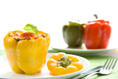 Stuffed yellow pepper Stock Photography
