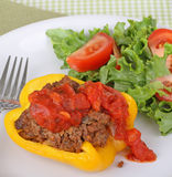 Stuffed Yellow Pepper Stock Images