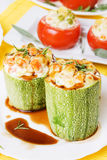 Stuffed zucchini Stock Photography