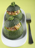 Stuffed zucchini Stock Images