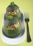 Stuffed zucchini Stock Images
