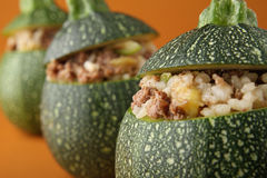 Stuffed zucchini Royalty Free Stock Photos