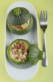 Stuffed zucchini Stock Photos