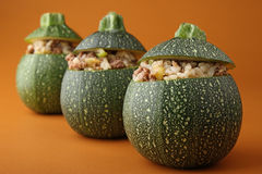 Stuffed zucchini Royalty Free Stock Photo