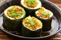 Stuffed zucchini Royalty Free Stock Photos