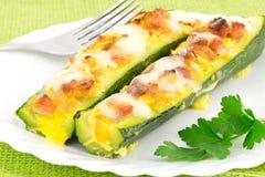 Stuffed zucchini Stock Photography