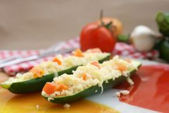 Stuffed zucchini Stock Photo