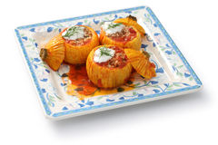 Stuffed zucchini Royalty Free Stock Image