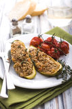 Stuffed zucchini with amaranth and vegetables Stock Images