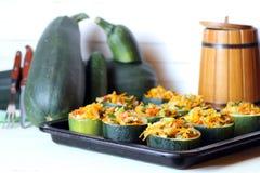 Stuffed zucchini dish Stock Image