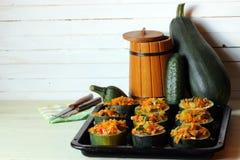 Stuffed zucchini dish Stock Photo