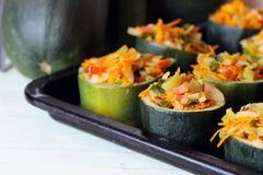 Stuffed zucchini dish Royalty Free Stock Photos
