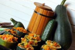 Stuffed zucchini dish Royalty Free Stock Photo