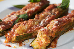 Stuffed zucchini Royalty Free Stock Photography