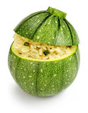 Stuffed zucchini isolated on white Royalty Free Stock Photography
