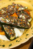 Stuffed Zucchini and tastefully served. Stock Image