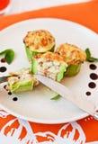 Stuffed zucchini Royalty Free Stock Photography