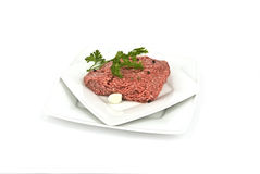 Stuffing. Minced meat with herbs and garlic Royalty Free Stock Photography