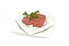 Stuffing. Minced meat with herbs and garlic Royalty Free Stock Image