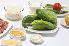 Stuffing cucumber Royalty Free Stock Photos