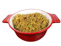 Stuffing in red bowl Stock Photos