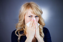 Stuffy nose Royalty Free Stock Photos