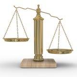 Stuft Gerechtigkeit auf einem weißen Hintergrund ein Lizenzfreies Stockfoto