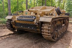 StuG ΙΙΙ Ausf Δ στο γεγονός Militracks Στοκ Εικόνες