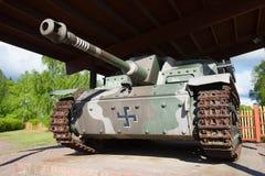 Stug III Ausf G Ps.531-8 - German self-propelled artillery installation of World War II close-up Royalty Free Stock Photos