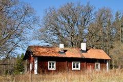stuga gammala sweden Royaltyfri Foto