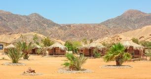 Stuga i ett läger i Sinai fotografering för bildbyråer