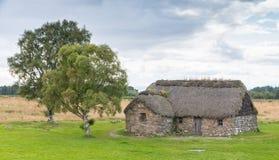 Stuga på den Culloden slagfältet royaltyfri bild