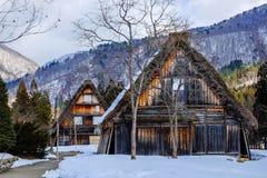 Stuga på den Gassho-zukuri byn Arkivbild