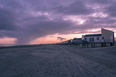 Stuga på stranden Arkivfoton