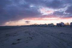 Stuga på stranden Royaltyfri Fotografi