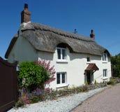 stuga thatched devon Royaltyfria Bilder