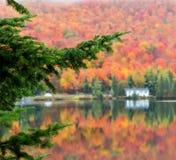 Stugaland Quebec Kanada Arkivfoton