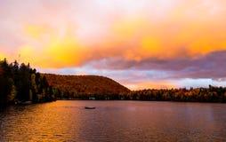 Stugaland Quebec Kanada Arkivbild