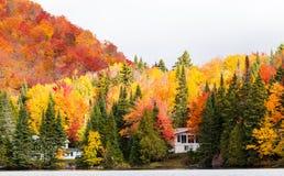 Stugaland Quebec Kanada Arkivbilder