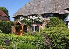 stugan thatched byn Arkivbilder