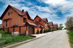 Stugby i Moldavien Fotografering för Bildbyråer