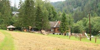 Stugor i slovakiskt paradis Royaltyfri Foto