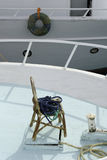 Stuhl auf dem Boot Lizenzfreies Stockfoto