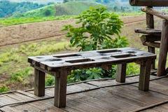 Stuhl auf den Berg an kho Windtime Khao, Phetchabun lizenzfreies stockbild