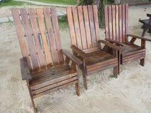 Stuhl auf Strand Stockbilder